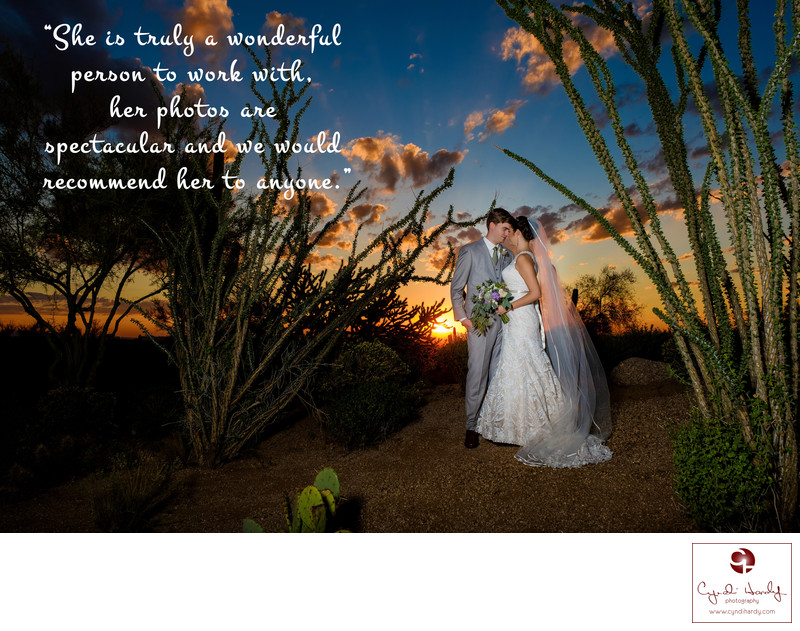 Sunset wedding photos Scottsdale