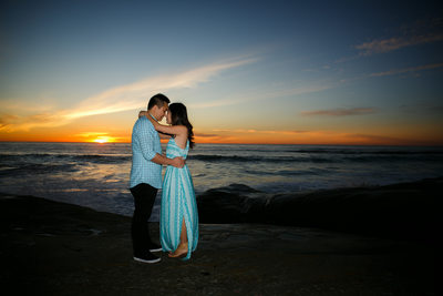 Sunset Engagement Photo La Jolla