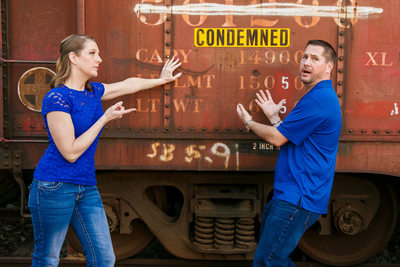 Funny Engagement Photo Poway Engagement Photographer