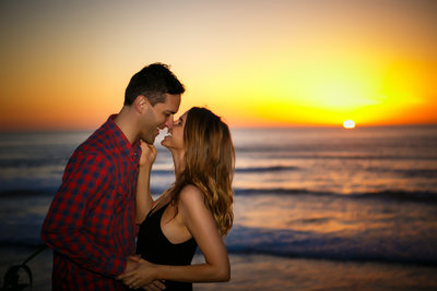Sunset Ocean Engagement San Diego Engagement Photos
