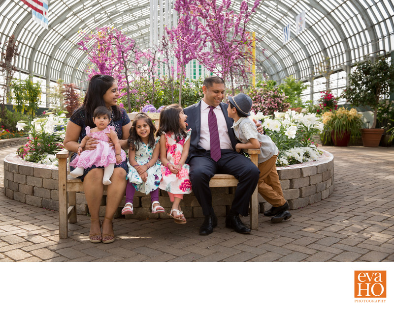 Indian Family Photos at Garfield Park Conservatory