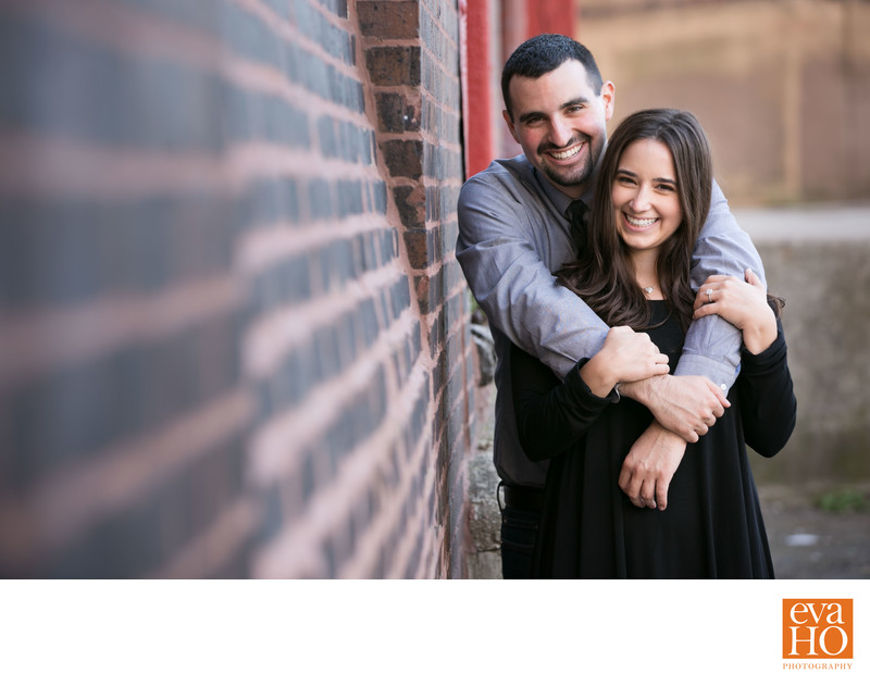 West Loop Engagement Photo with Cute Couple
