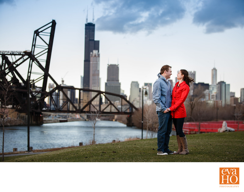 Breathtaking Engagement Photo at Ping Tom Memorial Park