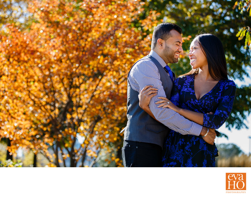 Fall Engagement Session at Museum Campus