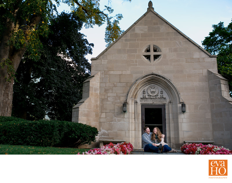Howes Chapel Northwestern University Engagement Session