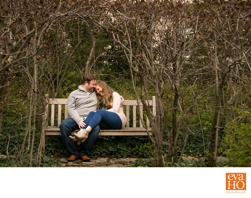 Shakespeare Garden Evanston Engagement Session