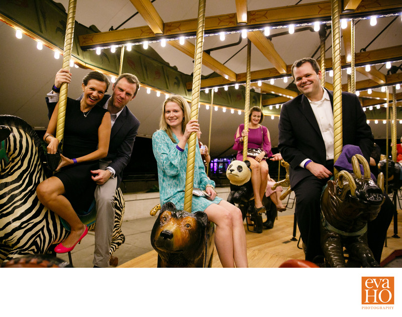 Guests of Zoo-ologie Enjoying Merry-Go-Round RIdes
