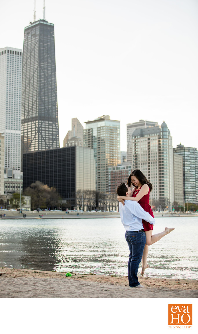 Ohio Street Beach Engagement Session