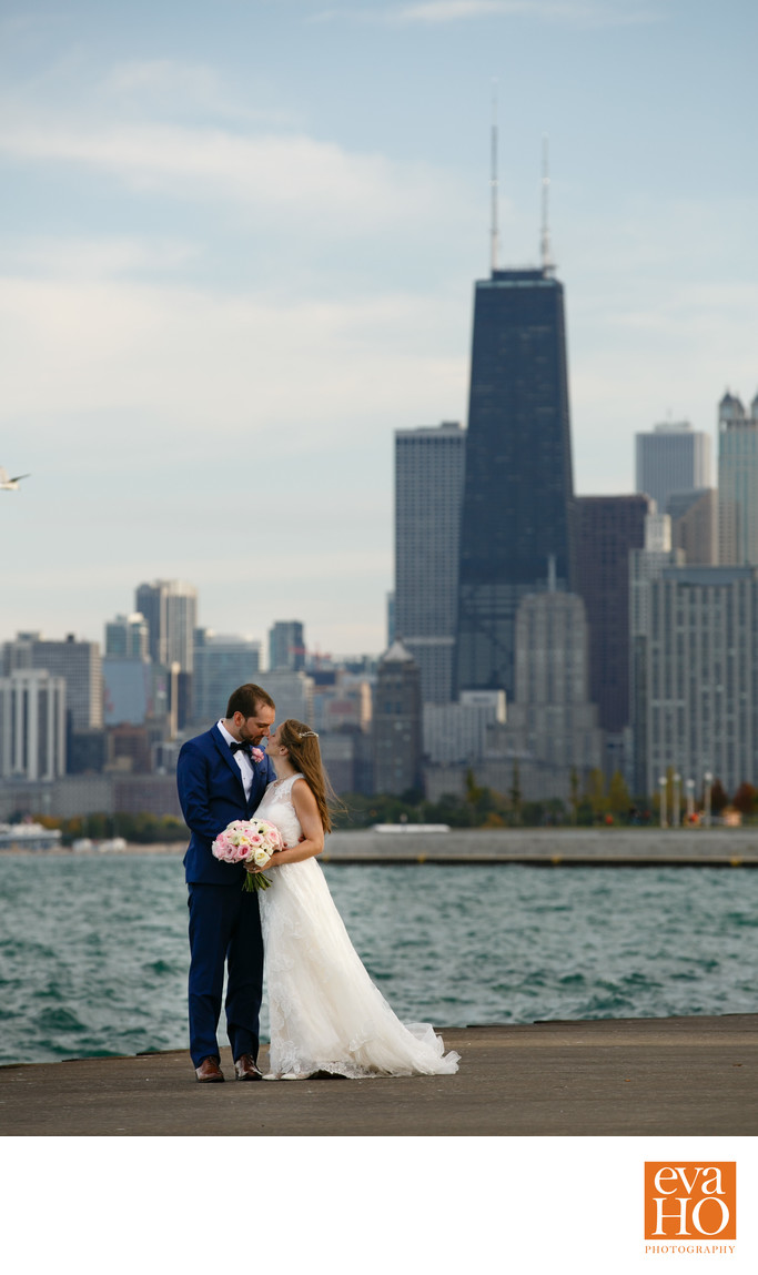 Diversey Harbor Wedding Pictures with John Hancock