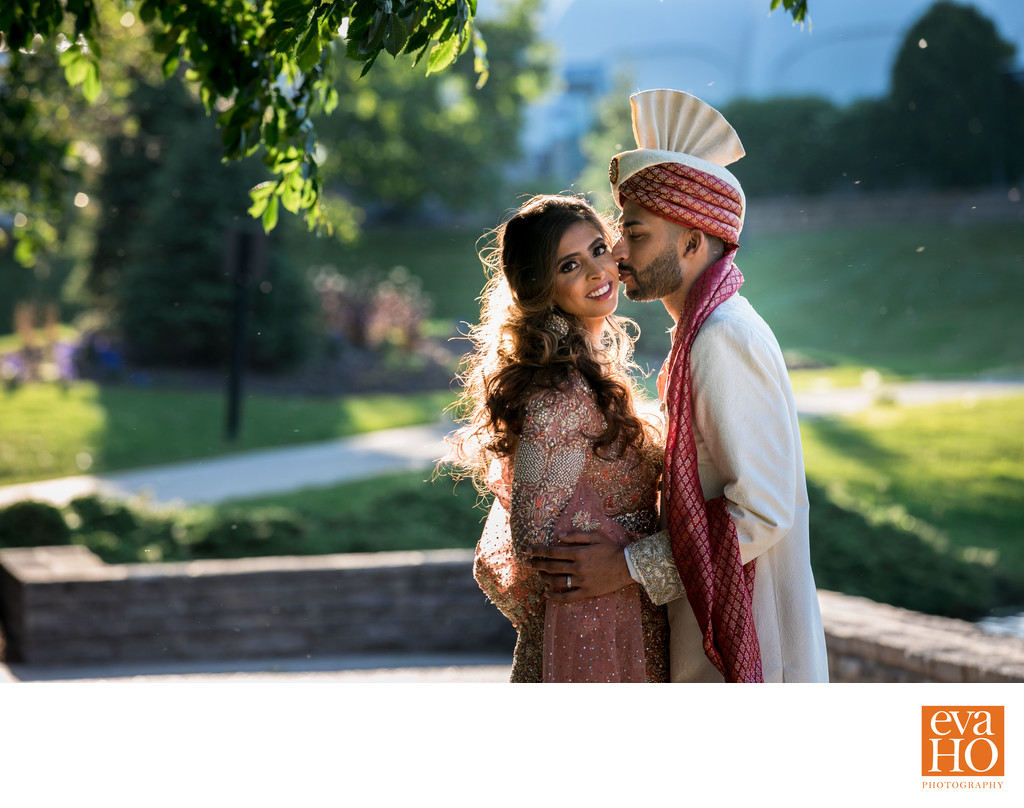 Nidah and Z in their Pakistani wedding outfit