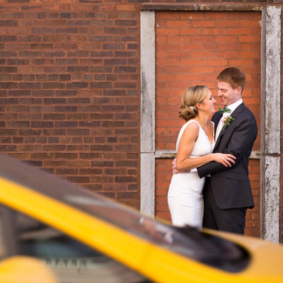 Wedding Portrait at Cassidy TIre Shop