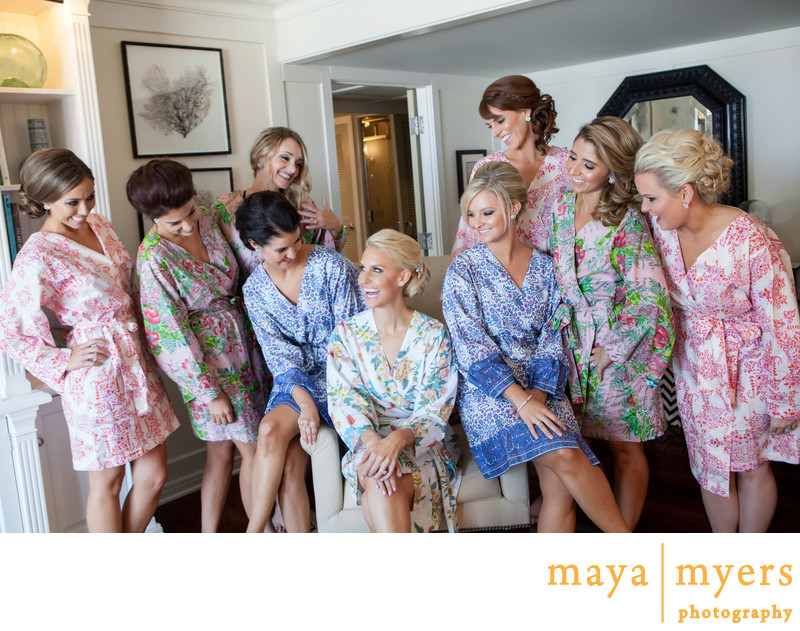 Bridesmaid Robes Shutters on The Beach Wedding