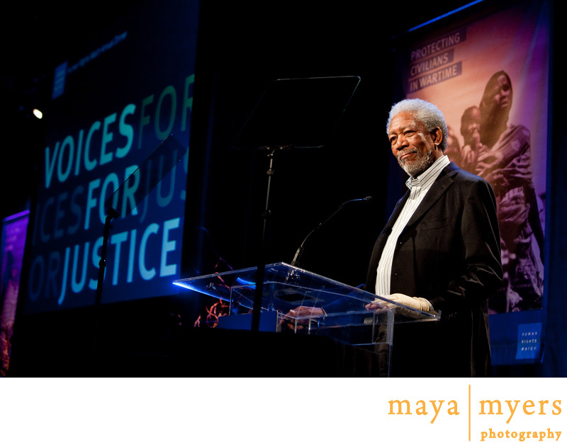 Morgan Freeman Human Rights Watch Photographer
