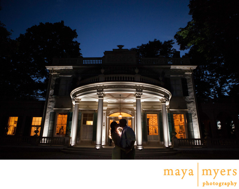 Night Portraits Montgomery Place Weddings