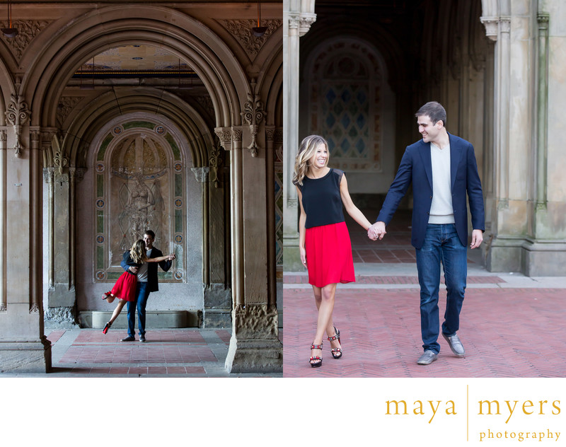 Central Park engagement session photography