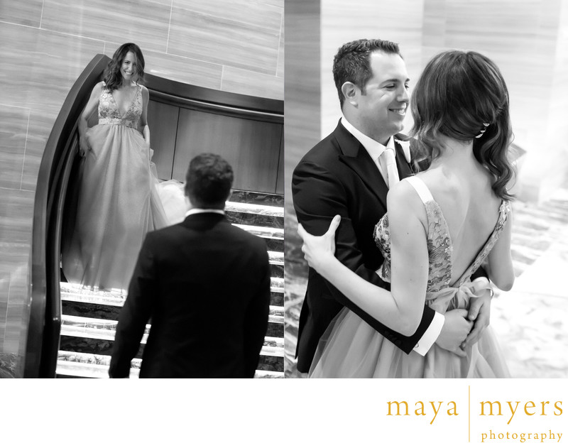 Wedding first look Park Hyatt New York Photography
