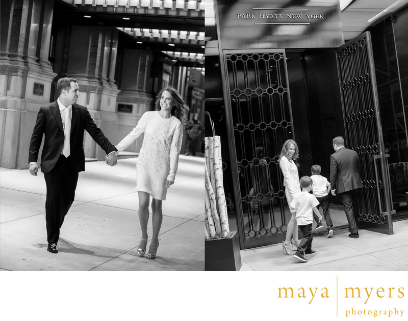 Wedding bride and groom portraits at Carnegie Hall