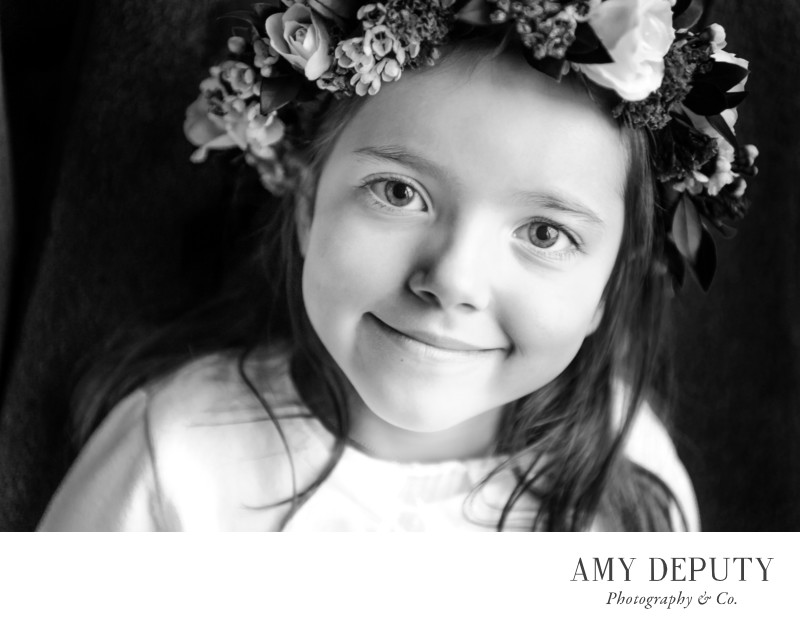Black and White Children's Portrait Photography Maryland