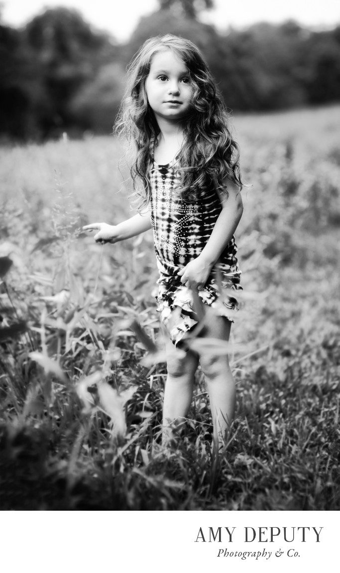 Outdoor Black & White Children Portraits Maryland