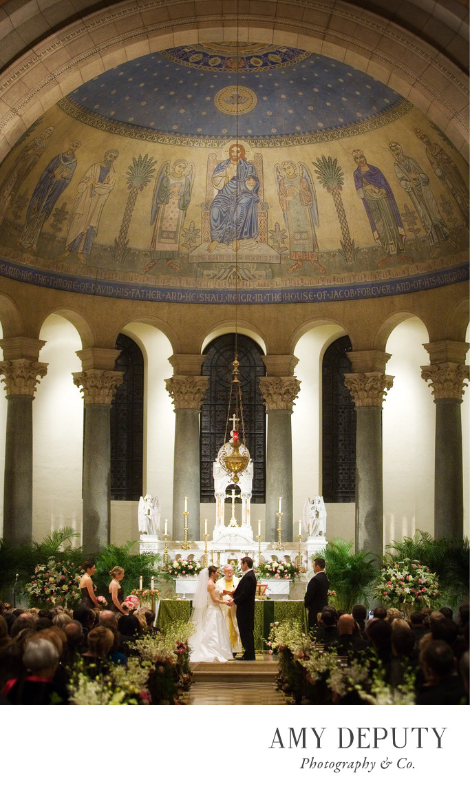 Church wedding at St Philip & James in Baltimore