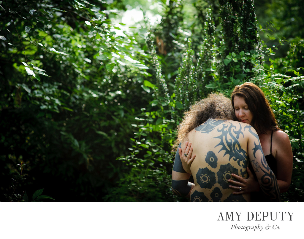 Tattooed Bride & Groom Engagement Photography, Maryland