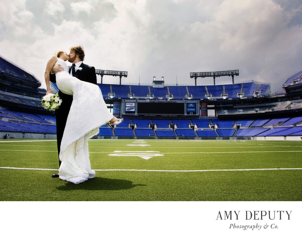 Baltimore Ravens Stadium Wedding Photographer