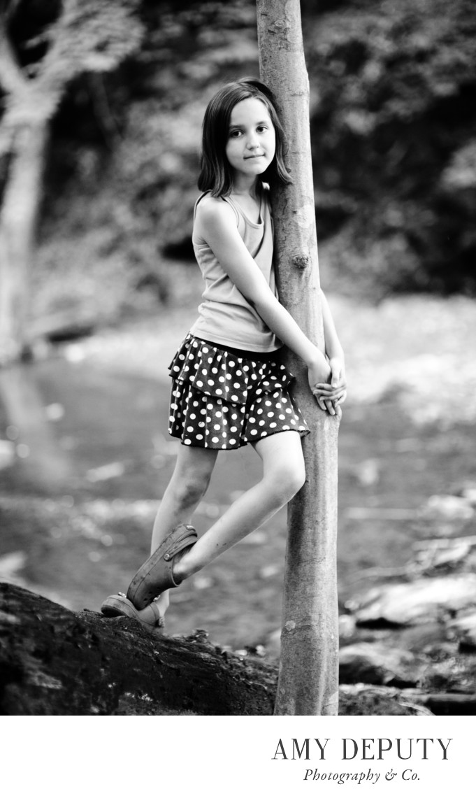 Outdoor Black And White Portrait Photography
