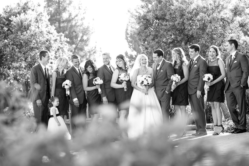 Wedding Bridal Party at Pepperdine in Malibu