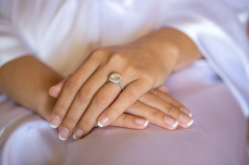 Bridal Diamond Ring Details Photography