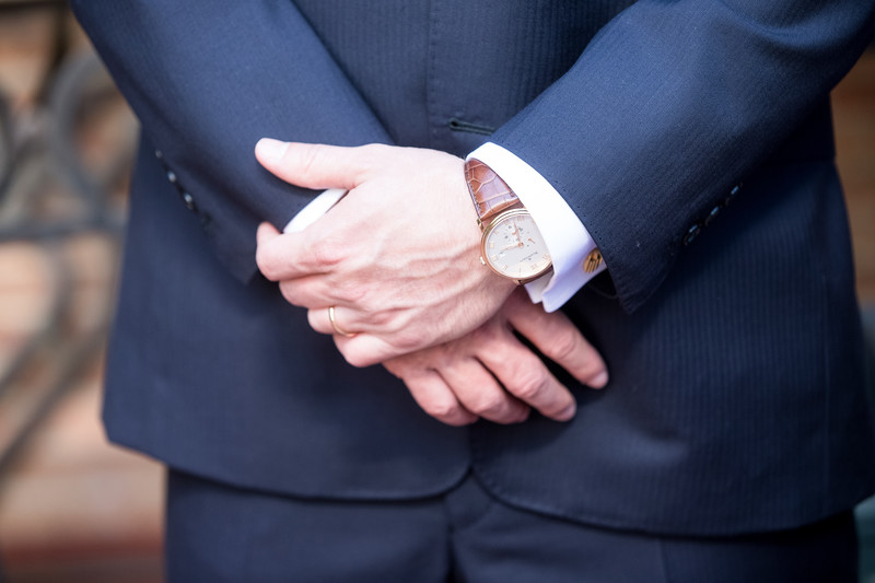 Groom's Watch Detail Blanc Pain