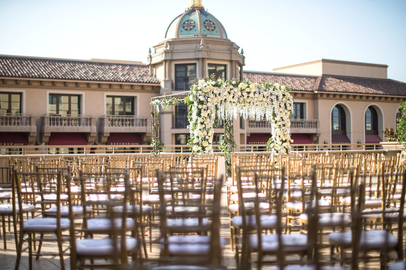 Wedding Ceremony Decor Photography at Montage Hotel, Beverly Hills