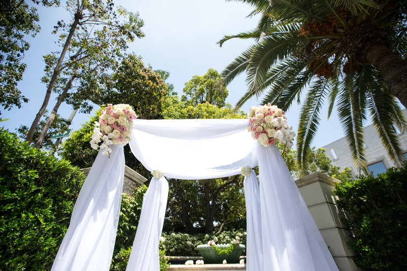 Beautiful Wedding Chuppah Decor at the Peninsula Hotel in Bevelry Hills