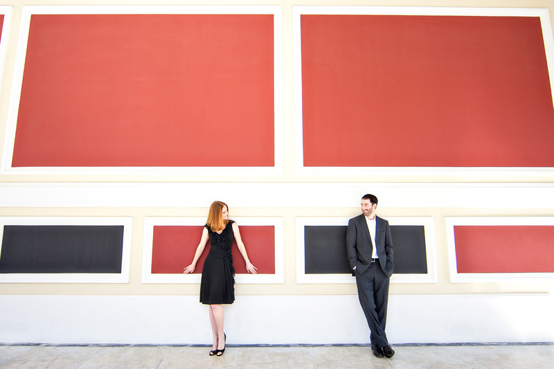 Getty Villa Engagement Session
