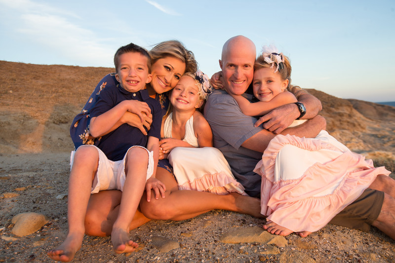 Warm Family Photo in Southern California