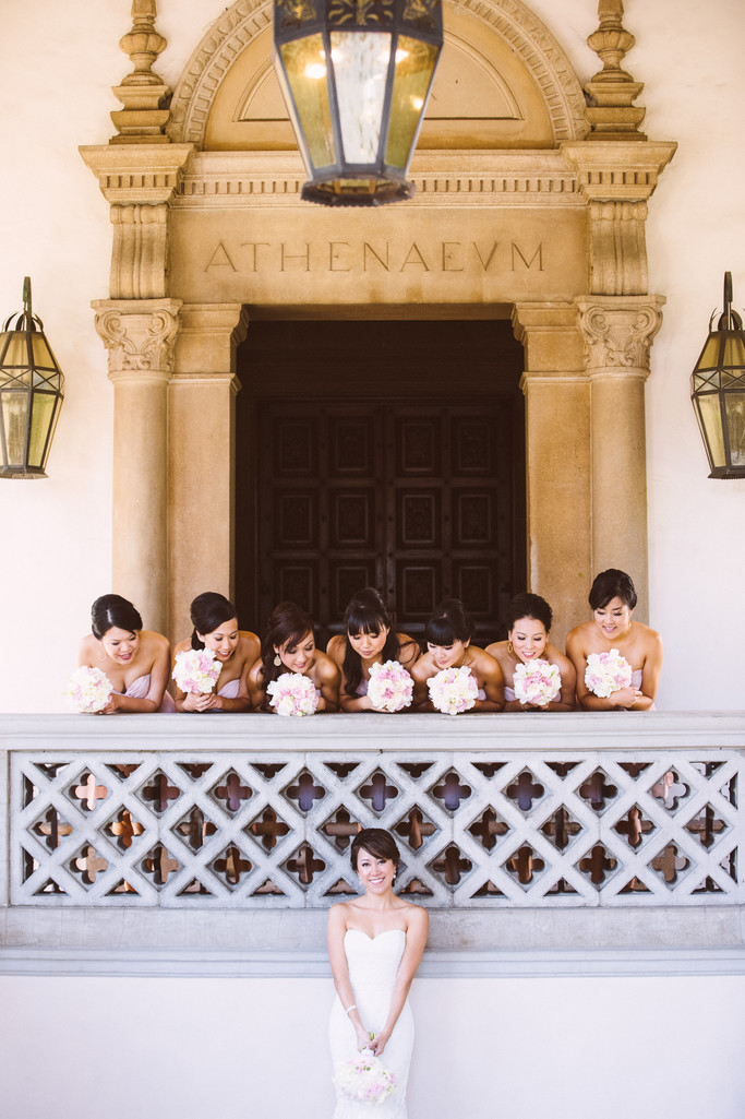 Bridal Party Fun in Pasadena California