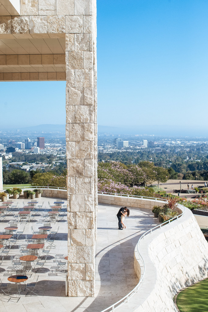 Getty Center Los Angeles Engagement Session Photography