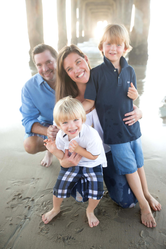 Family Beach Photography Session in Manhattan Beach, CA