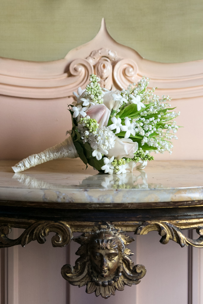 Bridal Wedding Bouquet at the California Club
