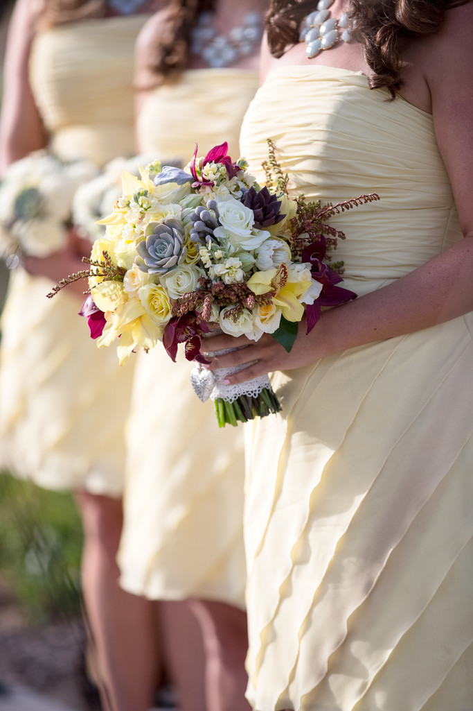 Bridesmaids dresses and Floral Bouquets