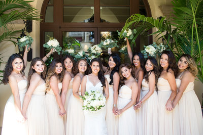Bridal Party at Montage Hotel Beverly Hills