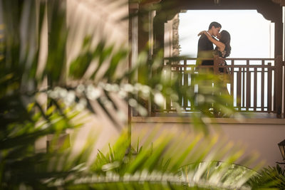 Stylish Bacara Resort Santa Barbara Engagement Photography