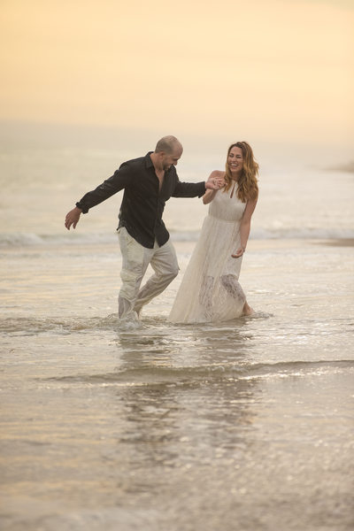 Fun Loving Beach Engagement Session in Malibu CA