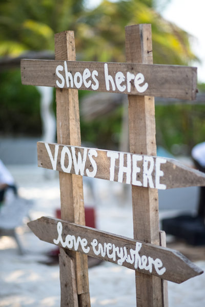 Wedding Ceremony Decor Signage in Tulum, Mexico