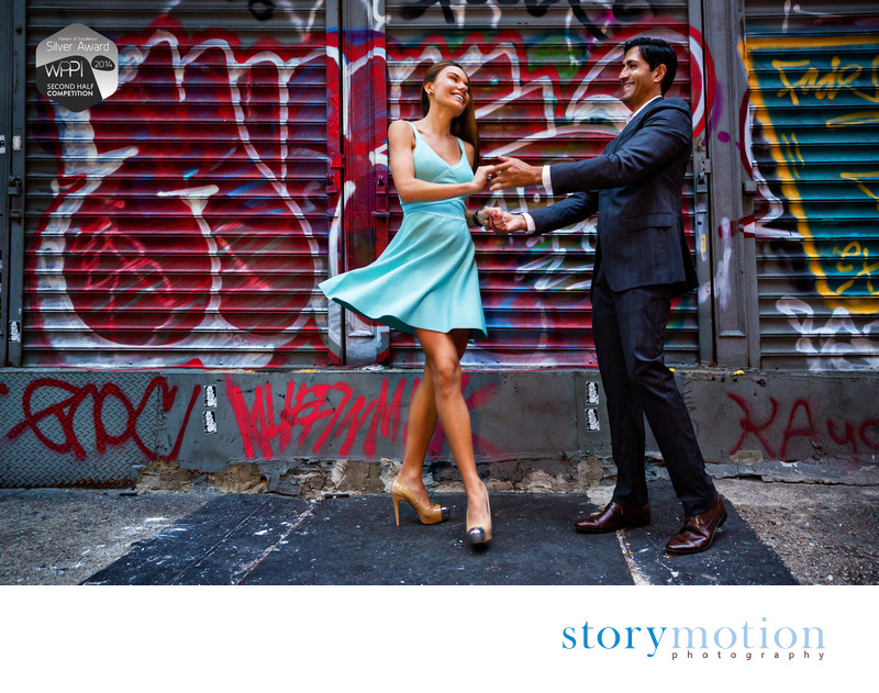 SOHO Salsa - SOHO/NYC Engagement Portrait Session