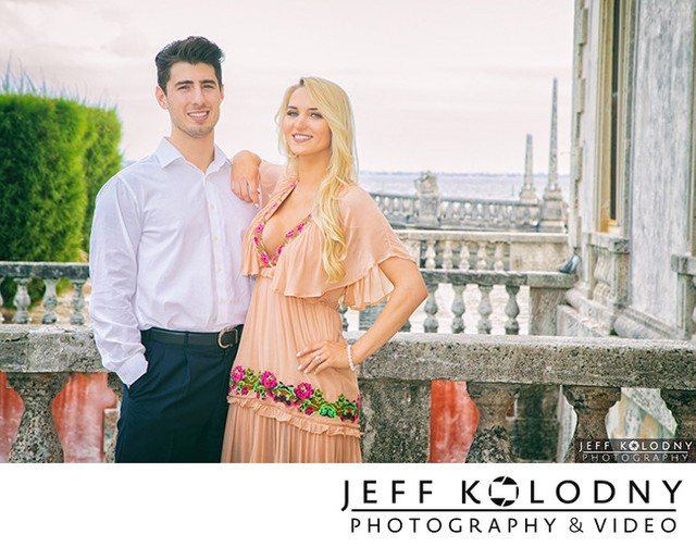 Vizcaya Engagement Photo