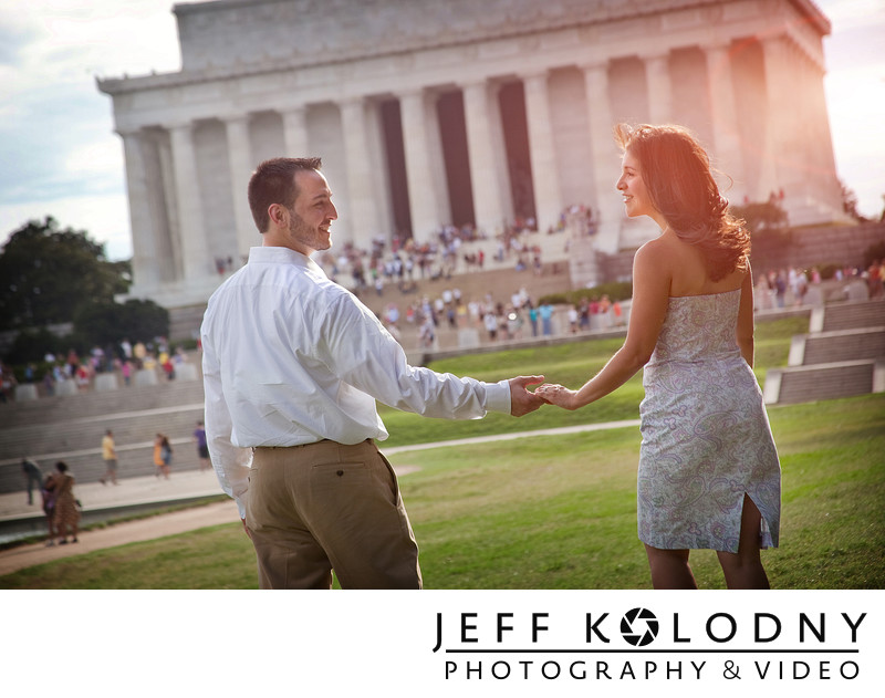 Washington DC Engagement picture by Jeff Kolodny