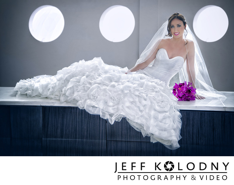 Bride at the Fountainebleau, Miami Beach FL