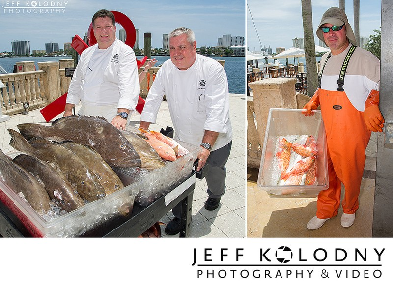 Fresh fish arriving at the Boca Raton Resort and Club.
