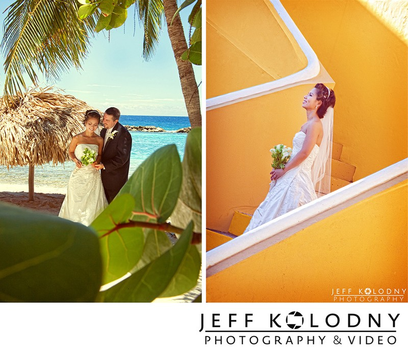 Small wedding / elopement pictures taken in Curacao