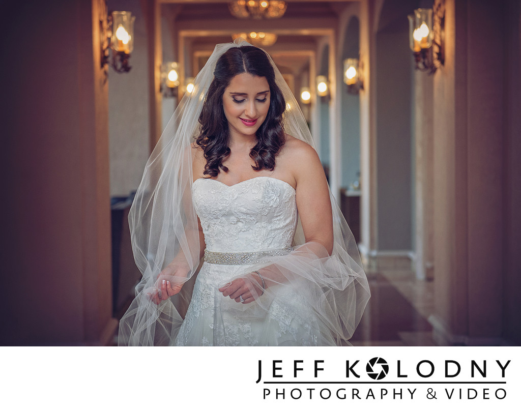 Hyatt Coral Gables wedding portrait.